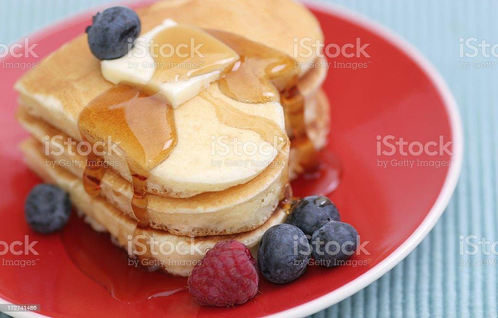 Valentine's pancakes stock photo
