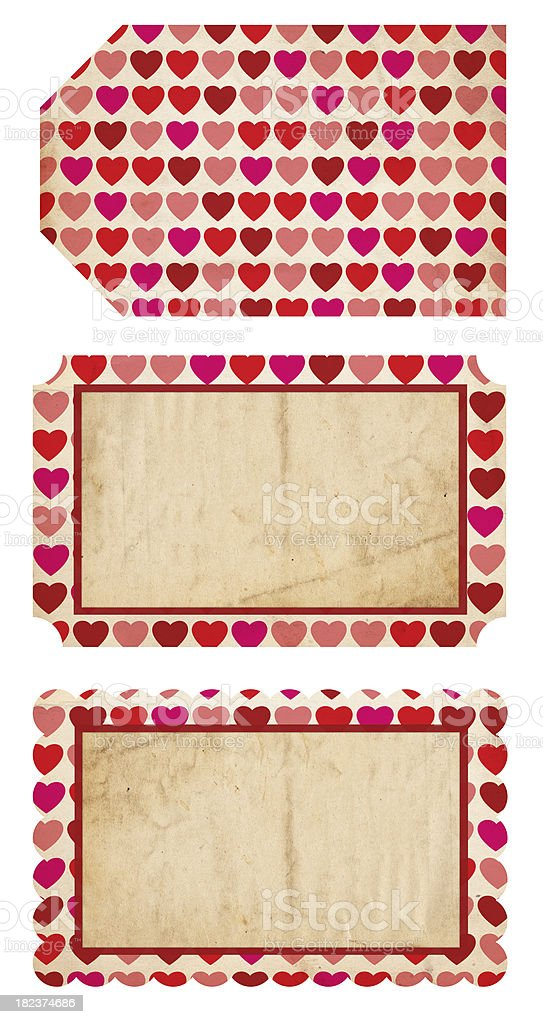 Valentine's Paper Tags royalty-free stock photo
