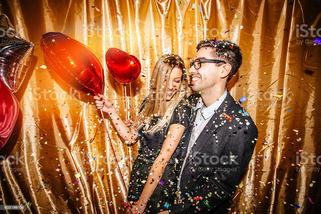 Valentine's party for two stock photo