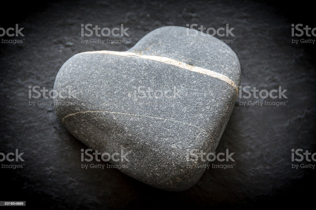 Valentines pebble stock photo