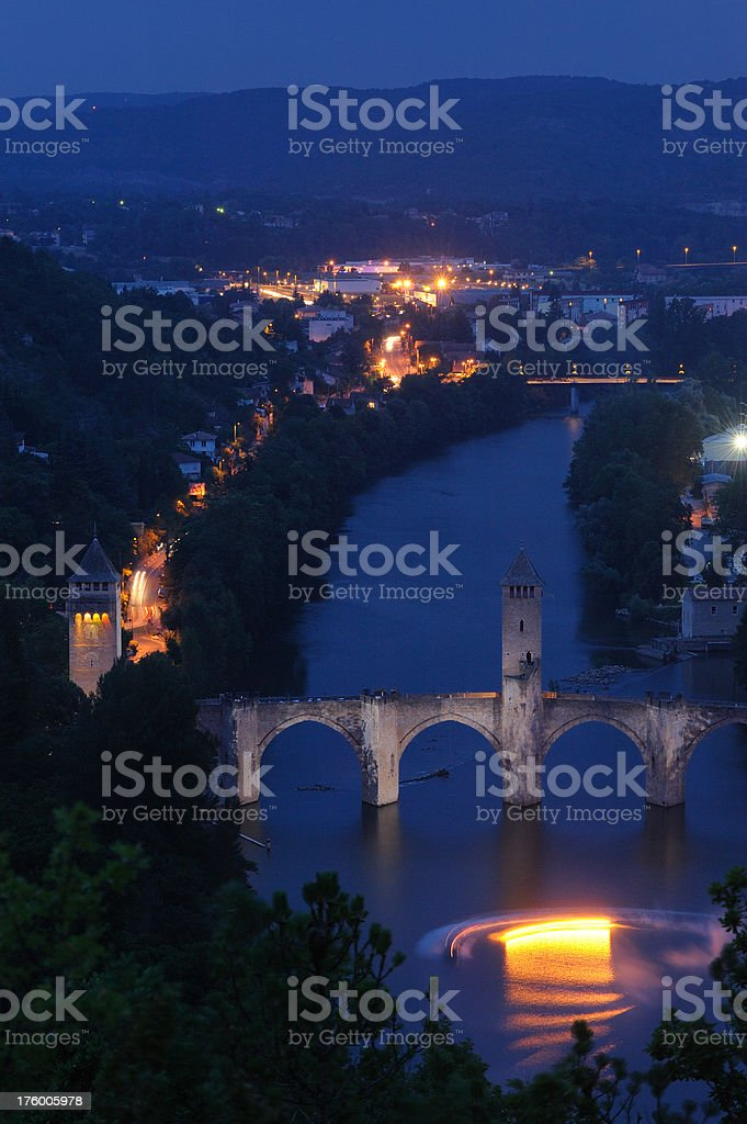 pont Valentre in Cahors, France stock photo