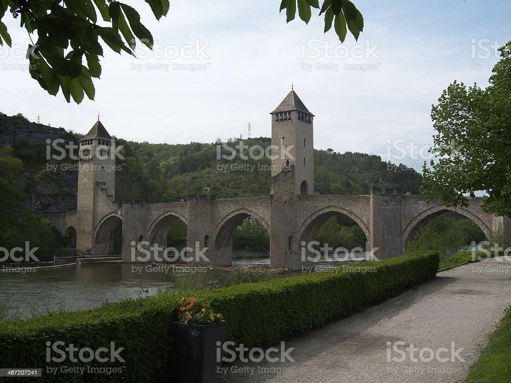Valentre Bridge in Cahors stock photo