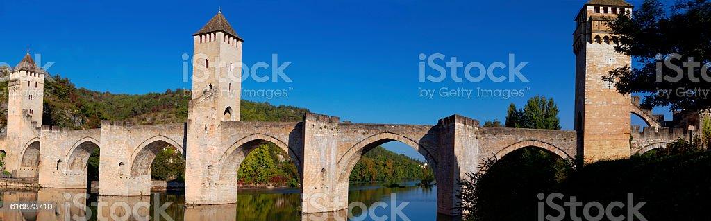 Valentre Bridge stock photo