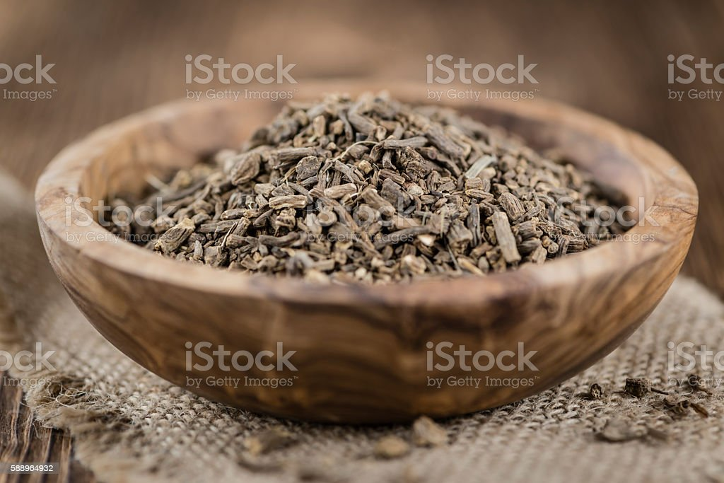Valerian roots (dried) stock photo
