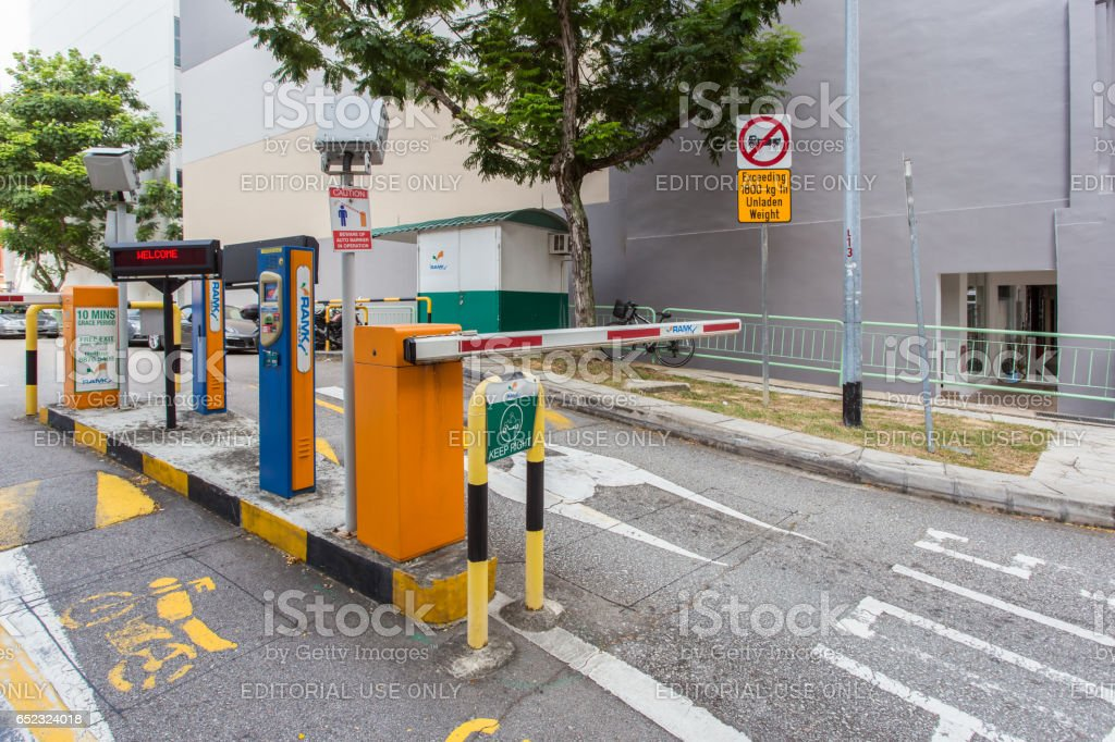 SINGAPORE - JUNE 26, 2015 : Valet car parking. stock photo