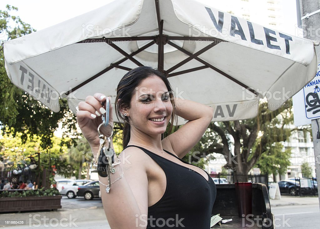 Valet Girl stock photo