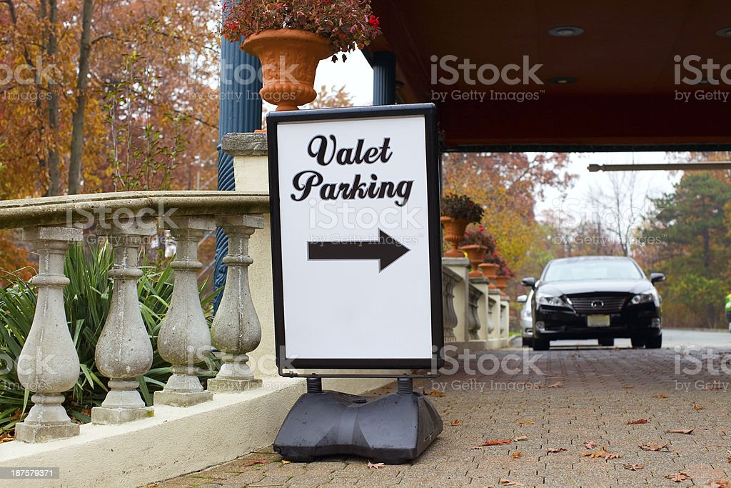 Valet Parking royalty-free stock photo