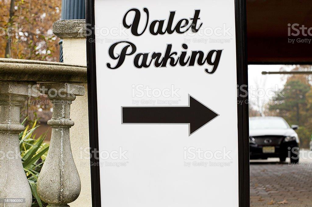Valet Parking stock photo
