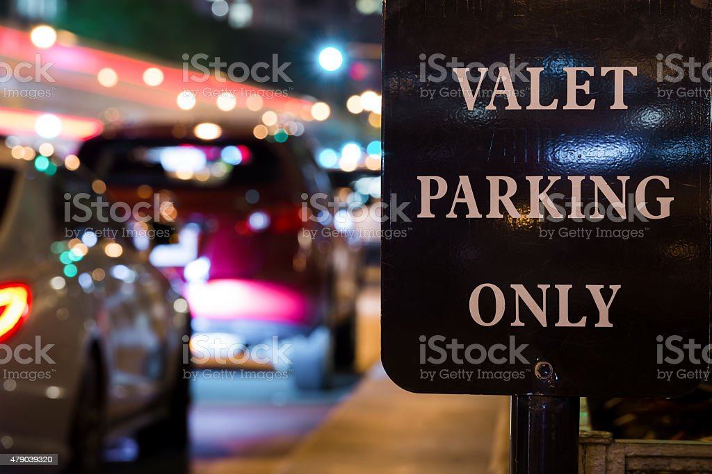 Valet Parking stock photo