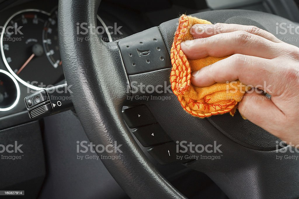Valeting the car stock photo