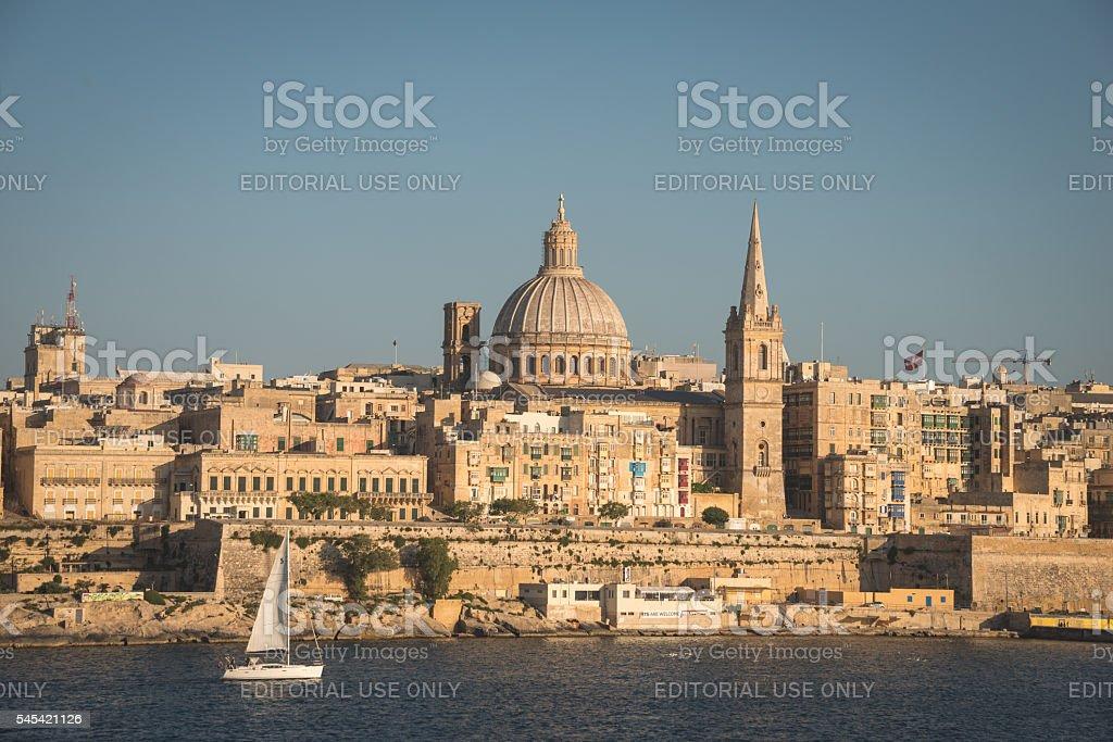Valetta architecture stock photo