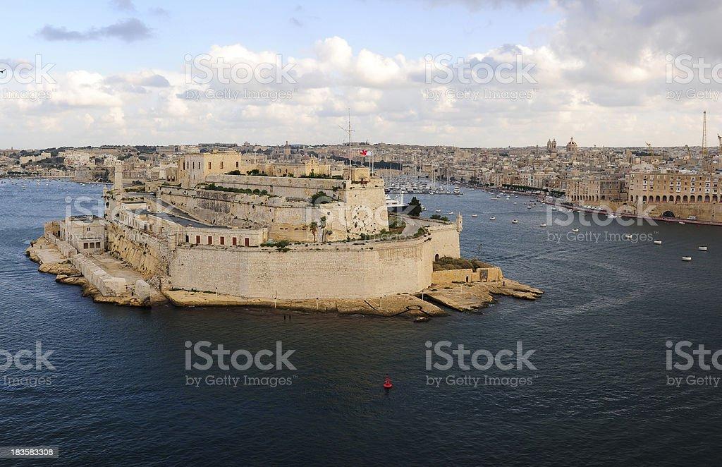 Valetta grand harbor stock photo