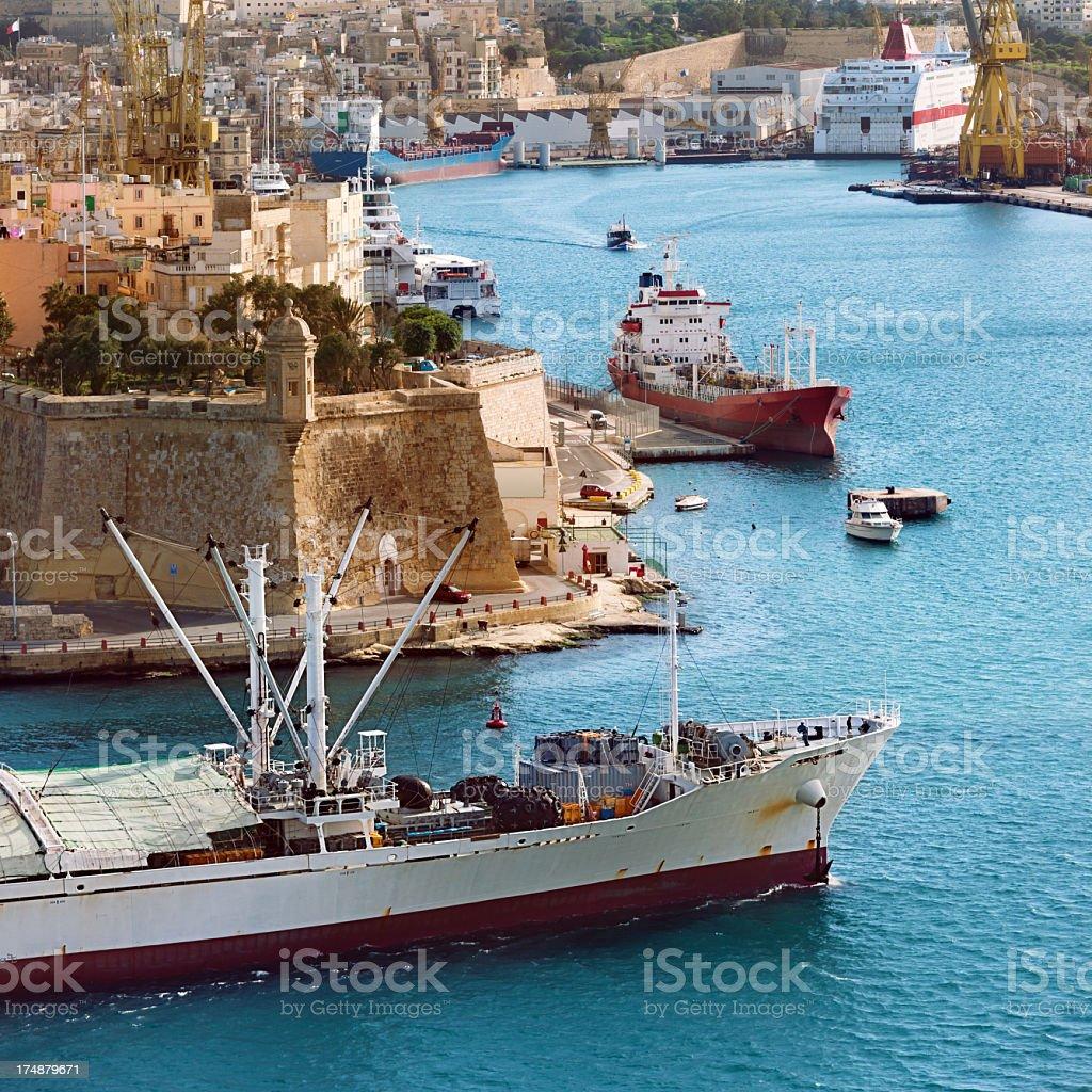 Valetta harbor royalty-free stock photo
