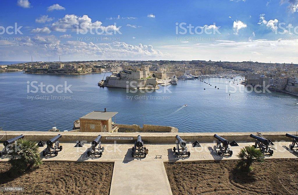 Valetta harbour stock photo