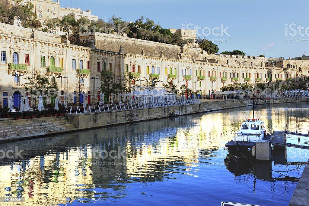 Valetta waterfront stock photo