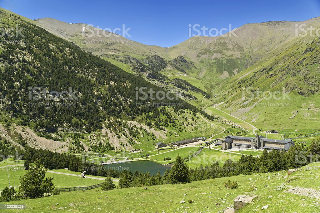 Vall de Nuria royalty-free stock photo
