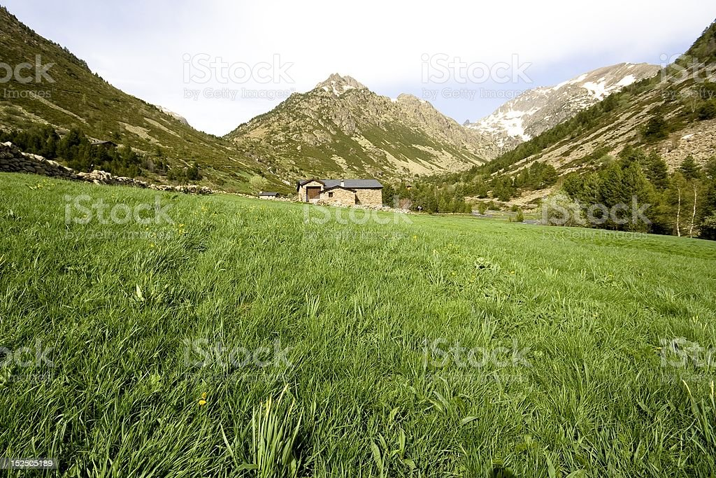 Vall d'Incles royalty-free stock photo