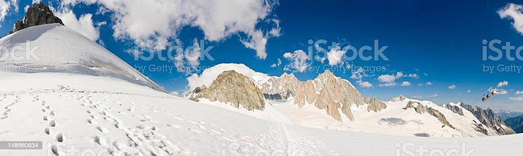 Vallée Blanche Mont Blanc Alps royalty-free stock photo