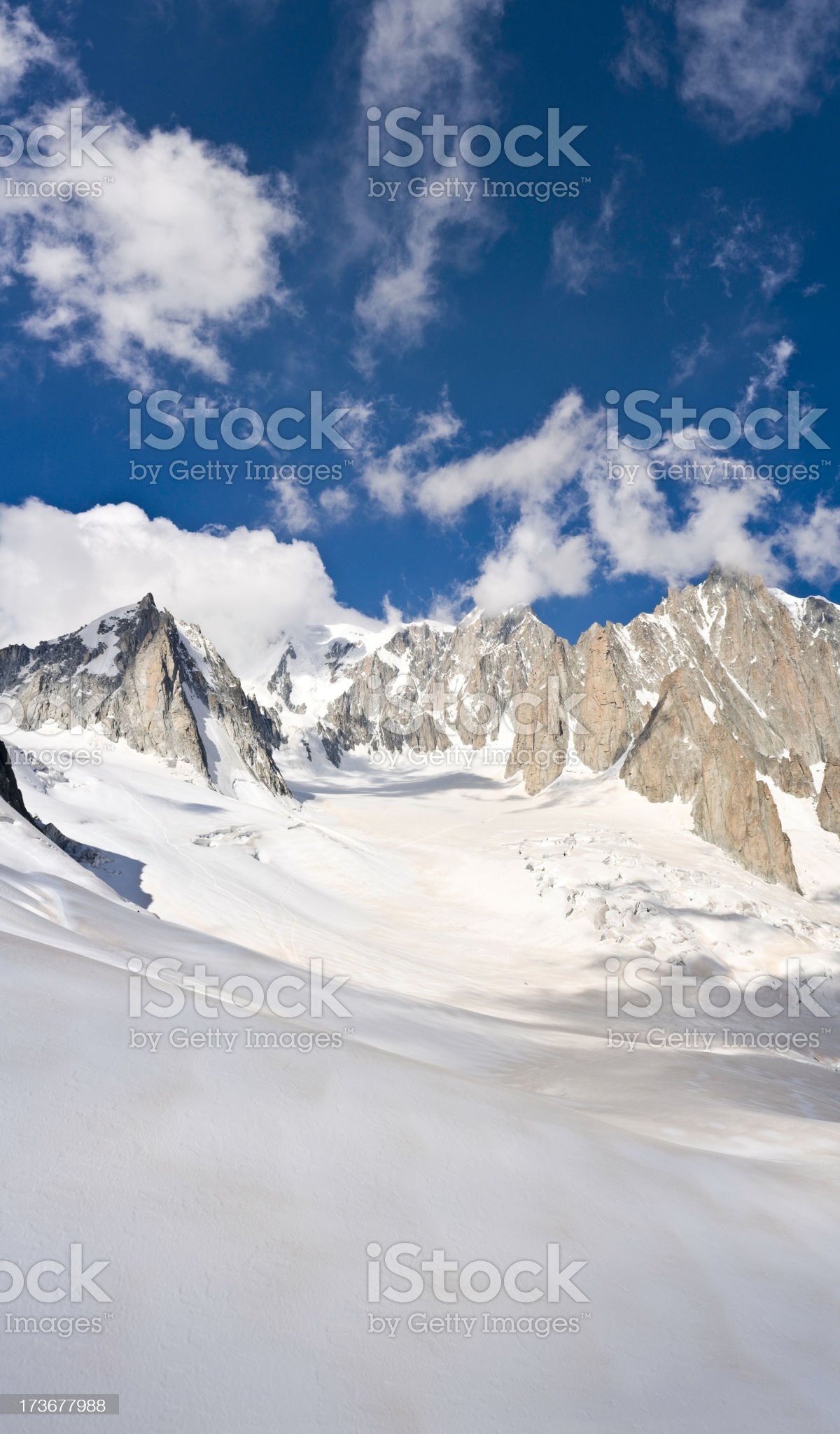 Vallée Blanche Mont Blanc France Italy royalty-free stock photo