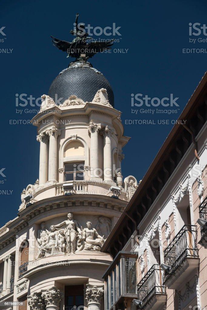 Valladolid (Castilla y Leon, Spain): buildings stock photo
