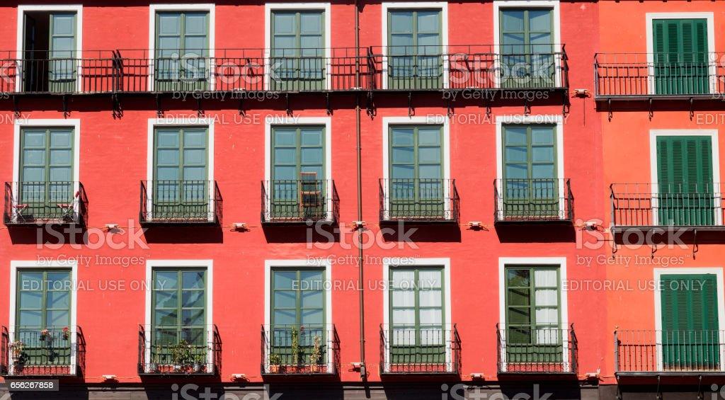 Valladolid (Castilla y Leon, Spain): Plaza Mayor stock photo