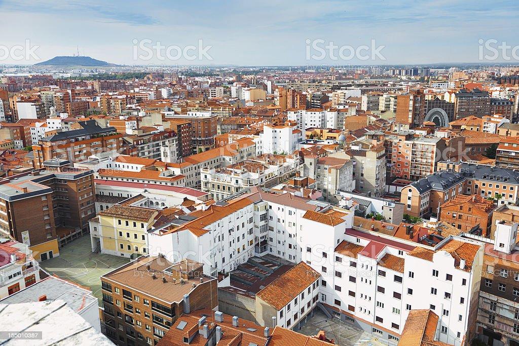 Valladolid skyline, Spain stock photo