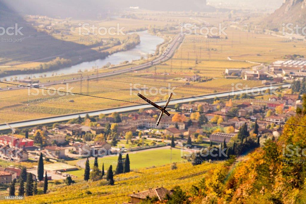 Vallagarina In Autumn, Italy stock photo