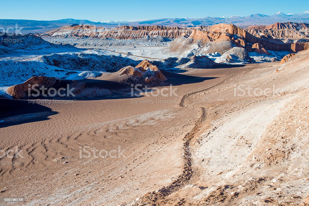 Valle De La Luna, Atacama Desert stock photo