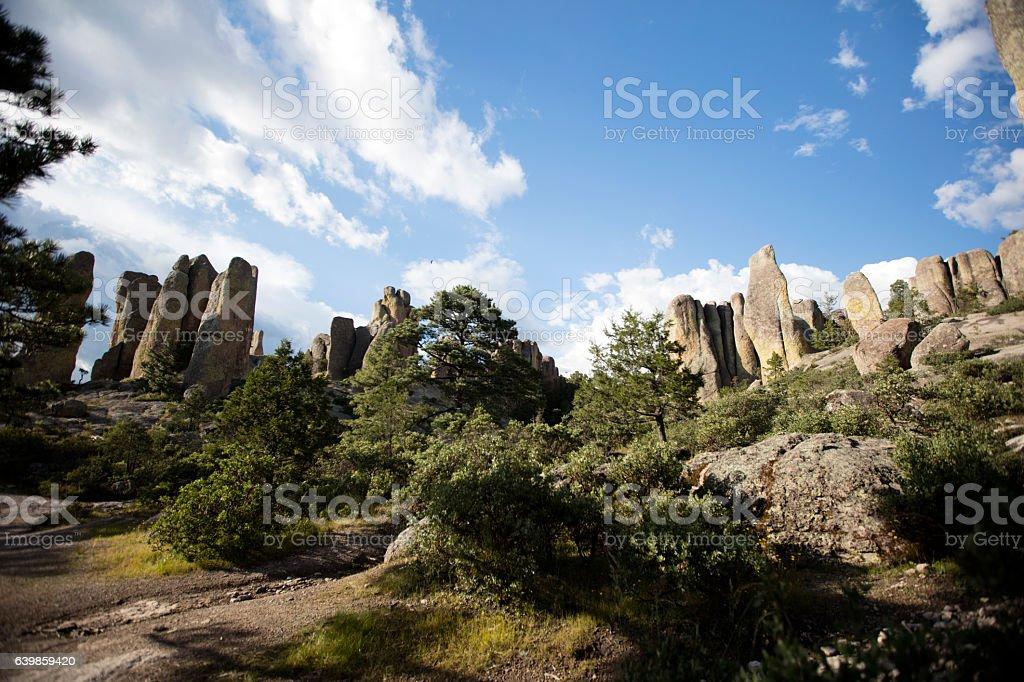 Valle de las Monjes (Monks valley) stock photo
