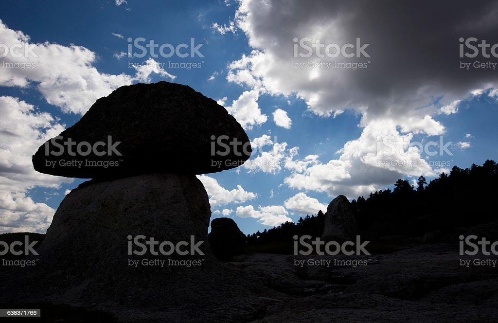 Valle de los hongos (Mushroom valley) stock photo