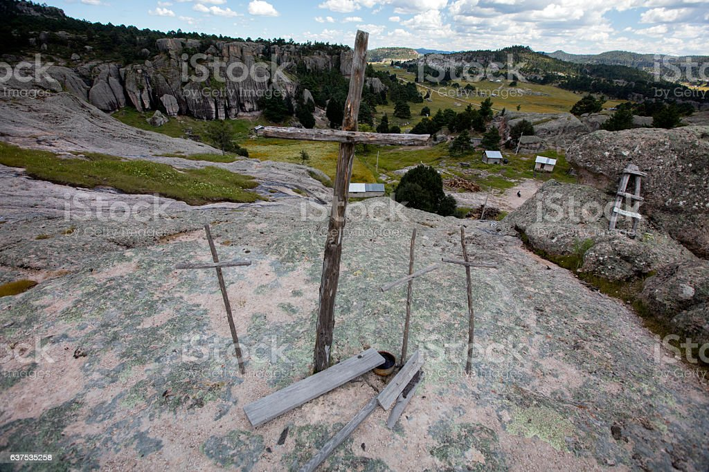 Valle de los monjes (Valley of the monks) stock photo