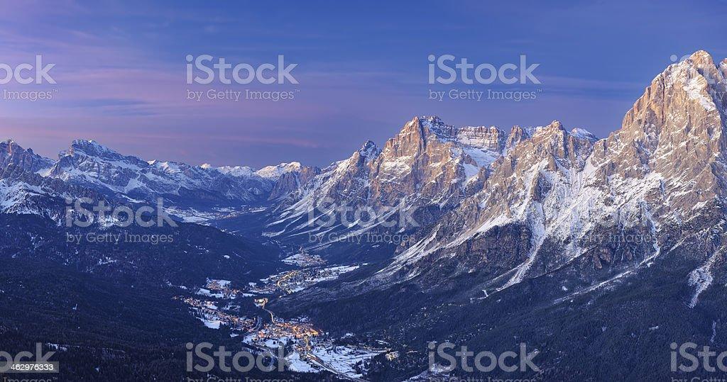 Valle del Boite Panorama stock photo