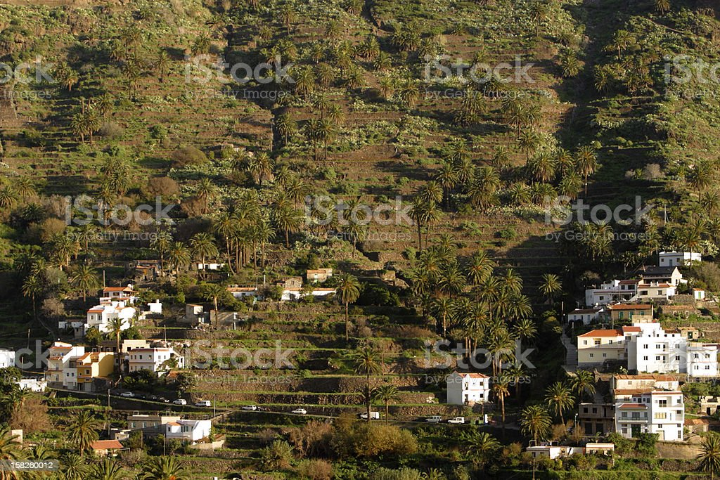 Valle Gran Rey, La Gomera stock photo
