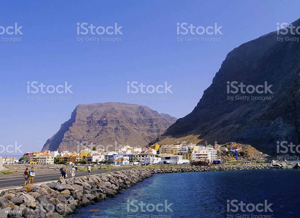 Valle Gran Rey on Gomera stock photo