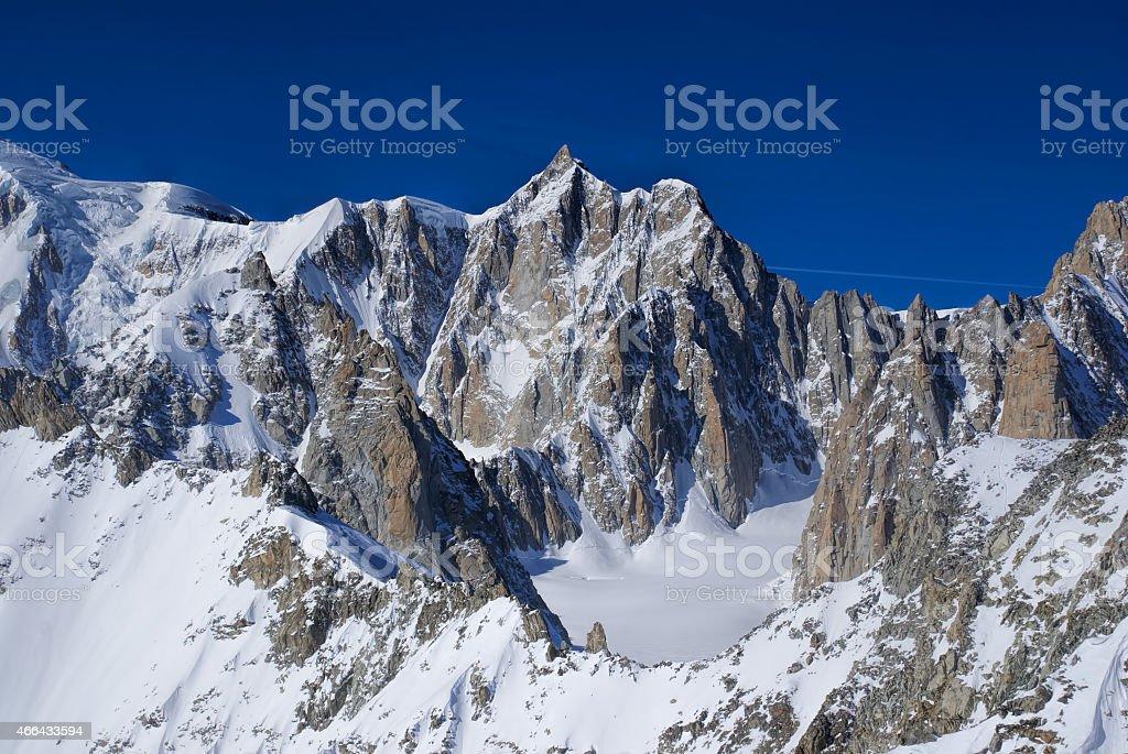 Vallee Blanche stock photo