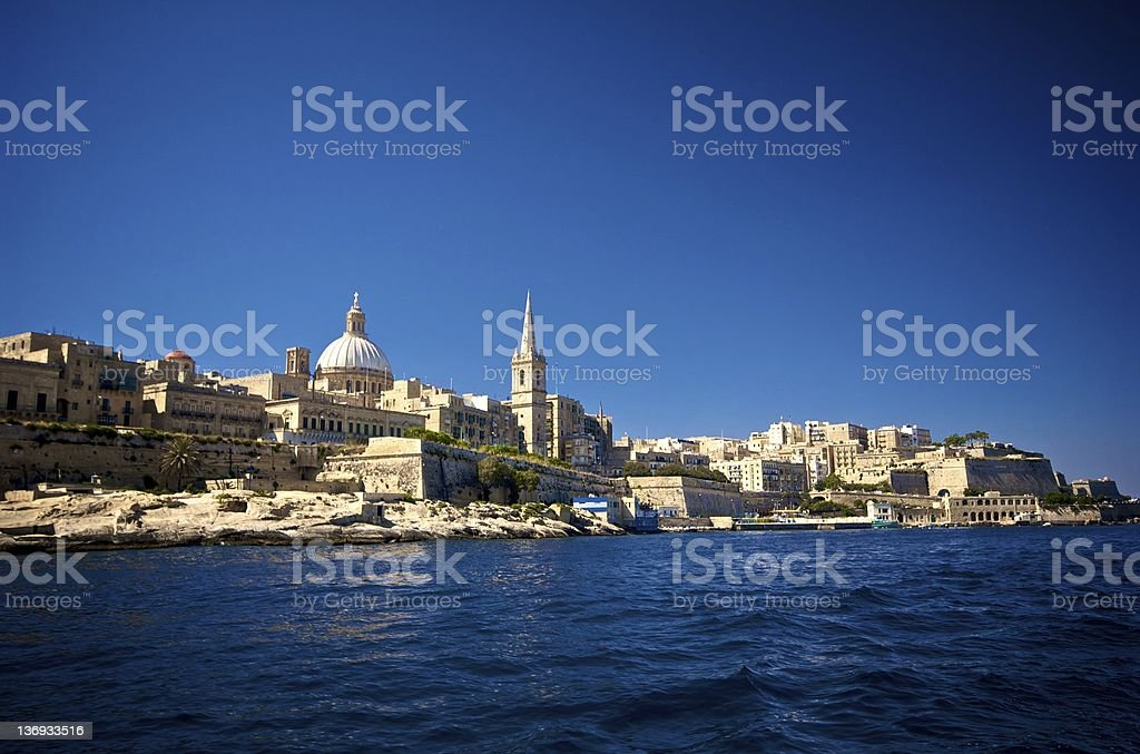 Valletta Coastline royalty-free stock photo