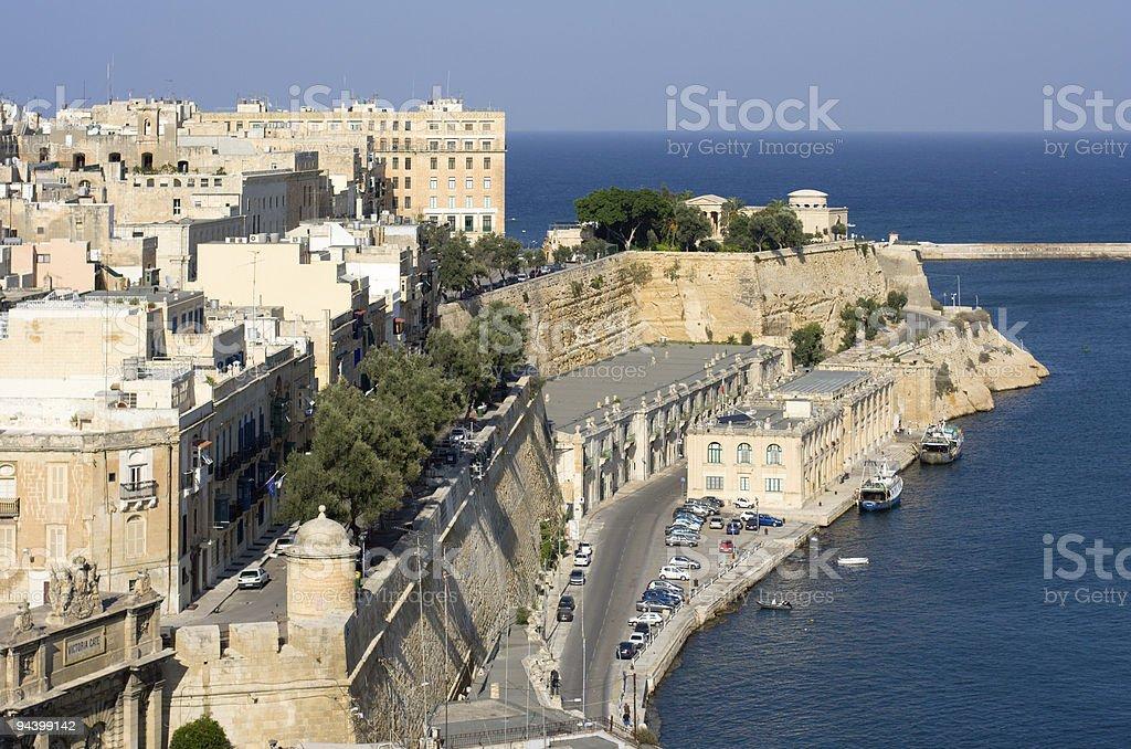 Valletta Coastline stock photo