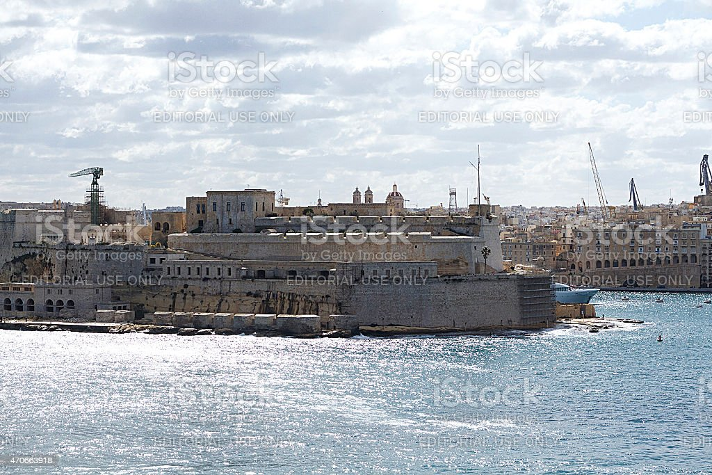 La Valletta Fort foto stock royalty-free
