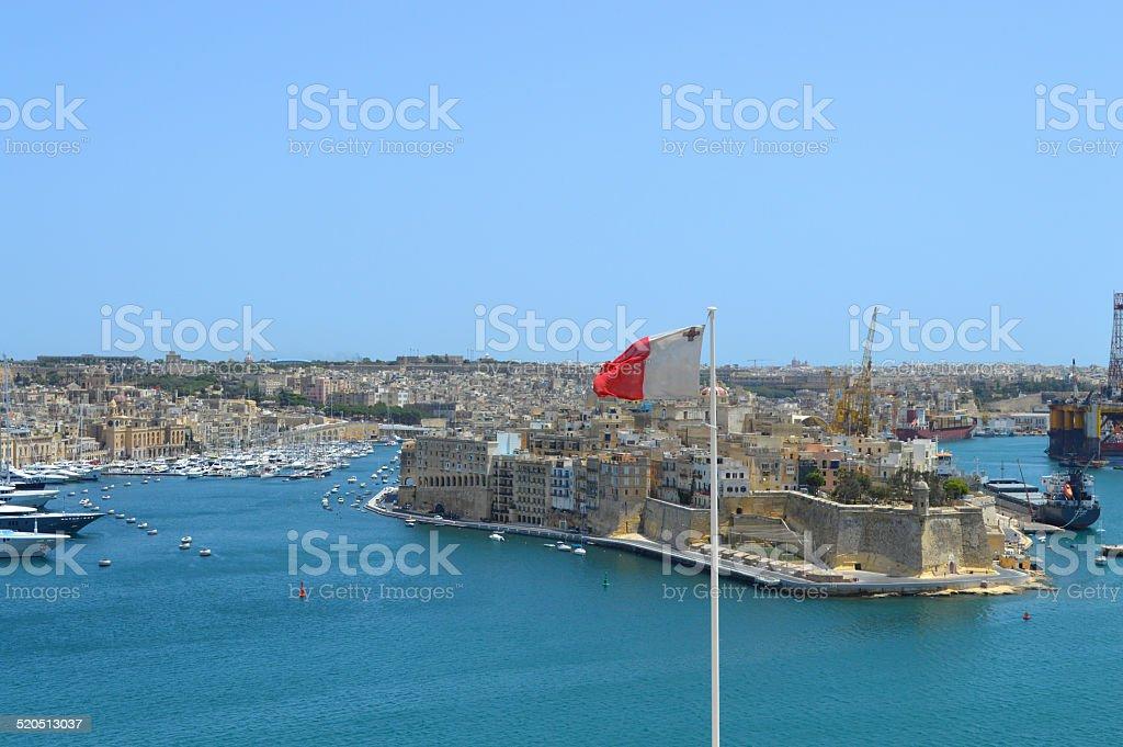 Valleta fortaleza malta foto de stock libre de derechos