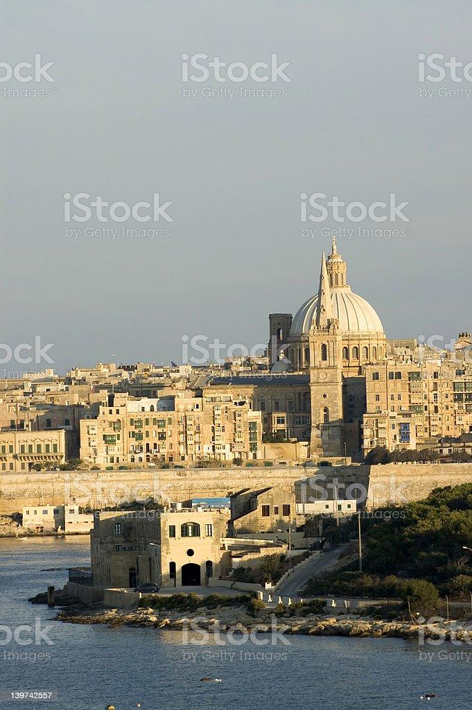 Valletta in the morning stock photo