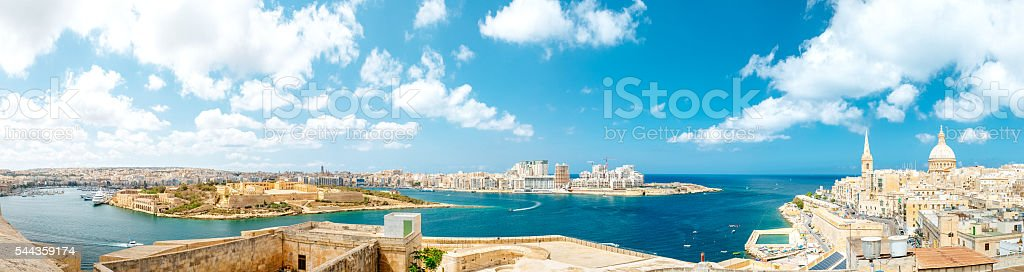 Valletta panorama, Malta stock photo