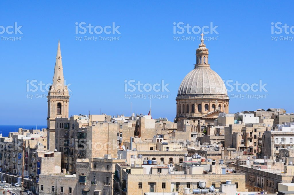 Valletta Sightseen stock photo