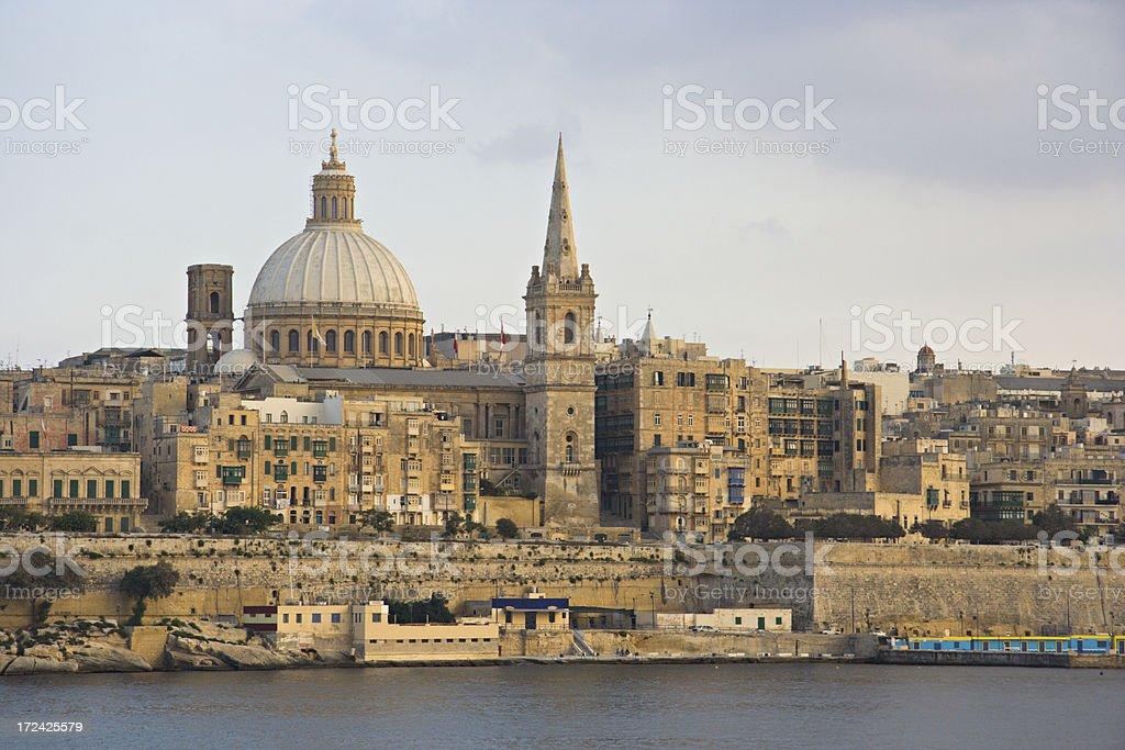 Valletta Skyline stock photo