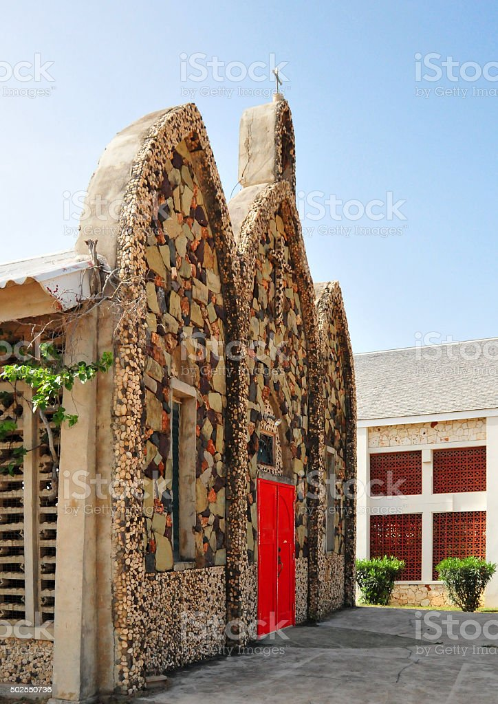 Valley, Anguilla: Old St. Gerard's Church stock photo