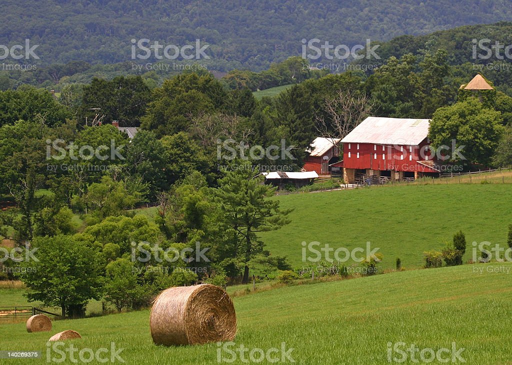Valley Farm royalty-free stock photo