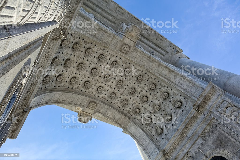 Valley Forge National Memorial Arch - Detailed Underside of Arch stock photo