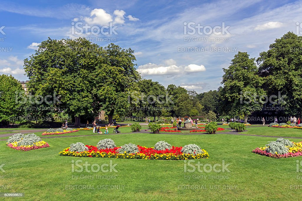 Valley Gardens, Harrogate stock photo