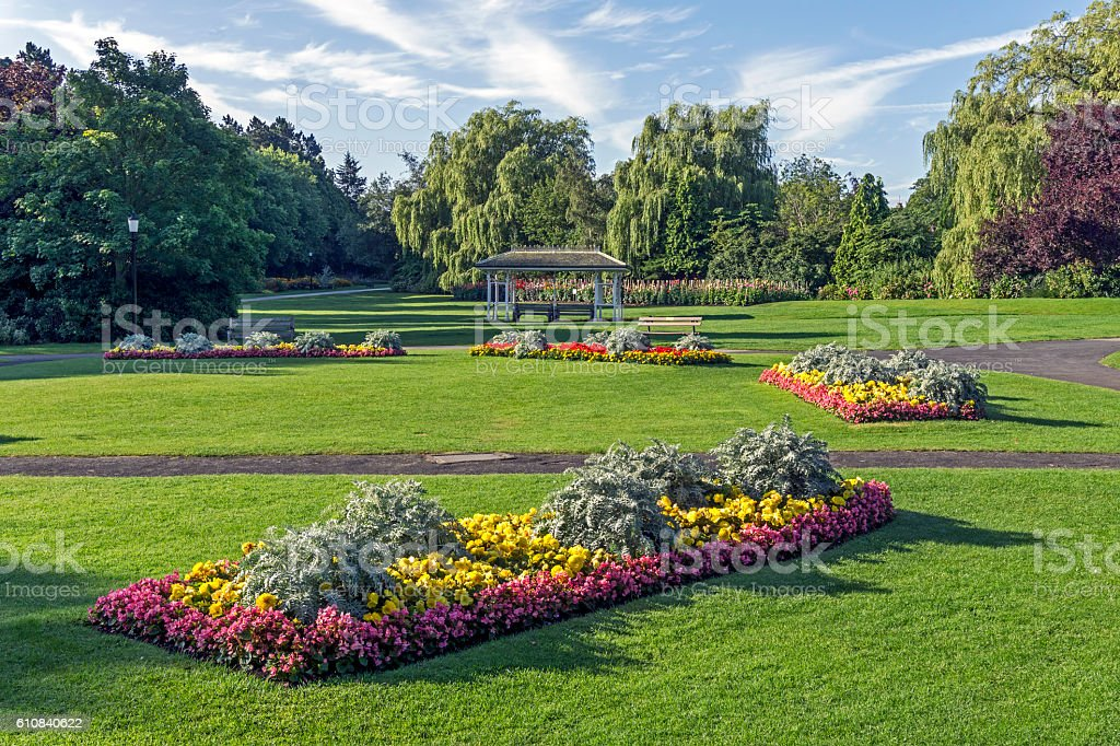 Valley Gardens, Harrogate stock photo