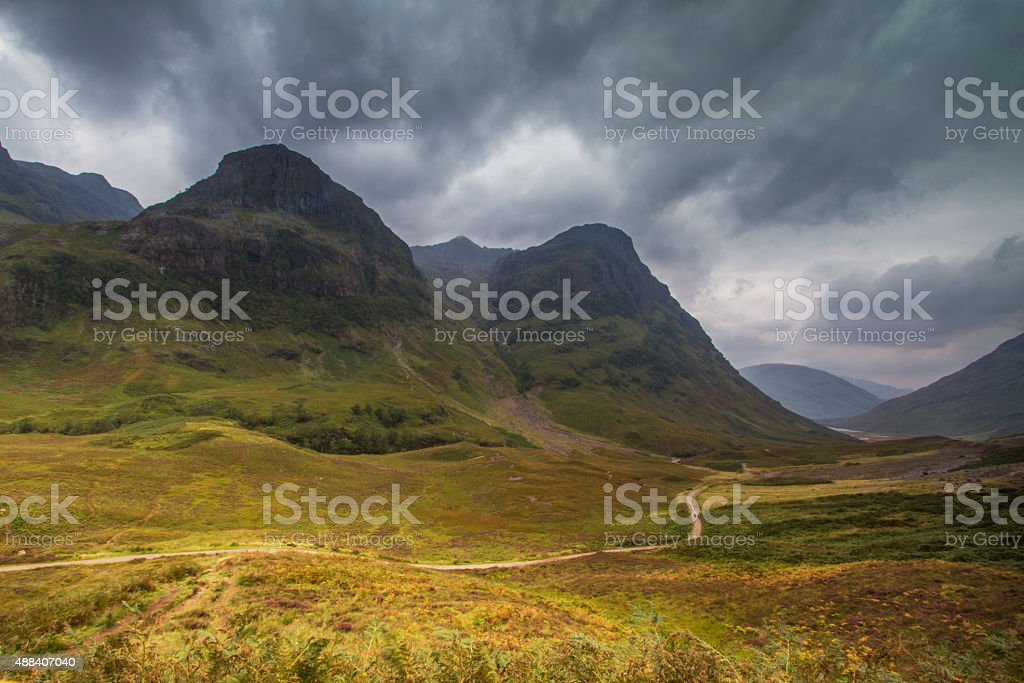 Valley Glencoe, Highlands Scotland stock photo