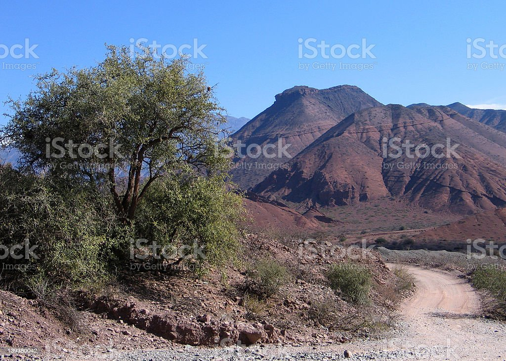 valley in Cafayate stock photo